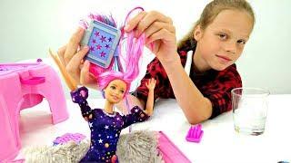 Салон красоты - Барби с цветными волосами. Распаковка куклы