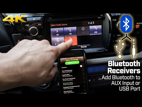 Add Bluetooth to AUXILIARY Input or USB Port – Bluetooth Receivers