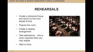 Webinar: How to Run A More Effective Choir Rehearsal