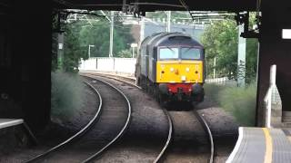 preview picture of video 'RARE 57011 & 57003 work 6M69 through West Hampstead with full thrash.'
