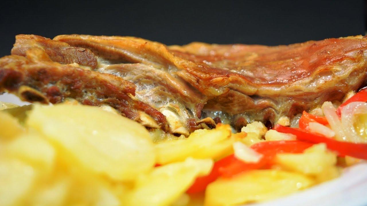 Churrasco de lechal con patatas panadera | Javier Romero