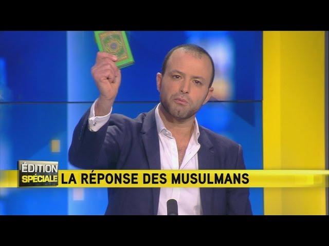 """فرنسي يرفع المصحف في قناة محلية ويوجه كلمة بالعربية لـ """"داعش"""""""
