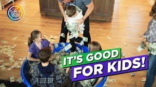 Kids Take Money Bath