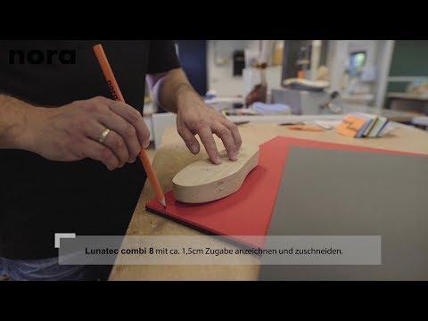 Einlage aus nora® Lunatec combi 8 und Lunatec motion | Verarbeitungstipps
