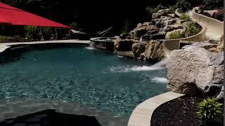 Custom Pool & Spa with Slide
