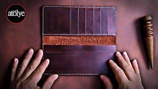 Handmade Leather Wallet | Best Leather Wallet | Leather Craft | DIY | ASMR