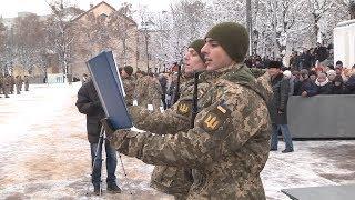 Присяга строковиків у навчальному центрі| Телеканал Новий Чернігів