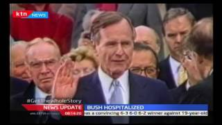 Former President George HW. Bush and his wife hospitalised