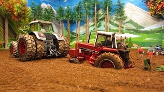 RC TRACTOR DESTROYED A PIPELINE & needs help /Rc toy action
