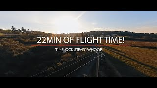 The Maiden flight of 22 min of flight time of my new FPV Cinematic Steadywhoop, the TimeLock !