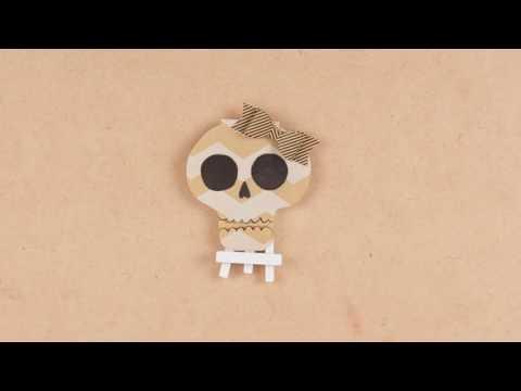 DIY segnaposto di Halloween a forma di teschio