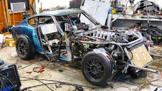 The V10 Swapped 240z Runs! And its SO LOUD!!!