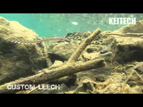 """10 leurres souples worm ver Custom Leech 3"""" KEITECH pêche drop shot perche bass"""