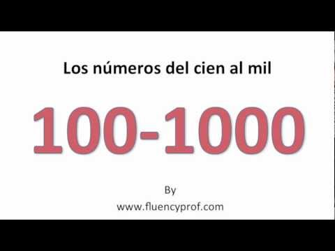 Spanish Numbers from 100 -1000