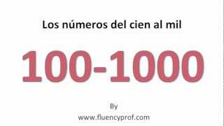 Gambar cover Spanish Numbers from 100 -1000