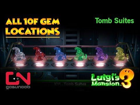 Luigi's Mansion 3 - All 10F Gem Locations - Tomb Suites Gems