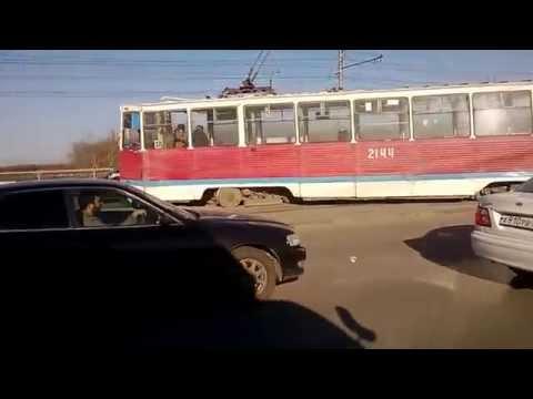 ДТП с трамваем в Новосибирске