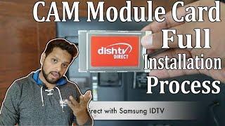 CAM module card full installation guide | CAM card in IDTV |