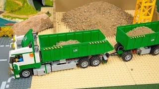 Lego Experimental Cars and Concrete Mixer, Excavator, Dump Truck, Police Cars  Toy Vehicles for Kids