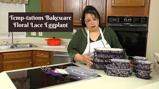 Temp-tations Floral Lace Bakeware Set Unboxing ~ QVC Temptations Bakeware ~ Amy Learns to Cook