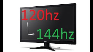 How to set your monitors refresh rate to 144hz when it isn't showing on Windows 10