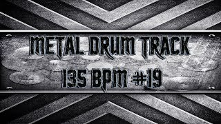 Simple Straight Metal Drum Track 135 BPM (HQ,HD)