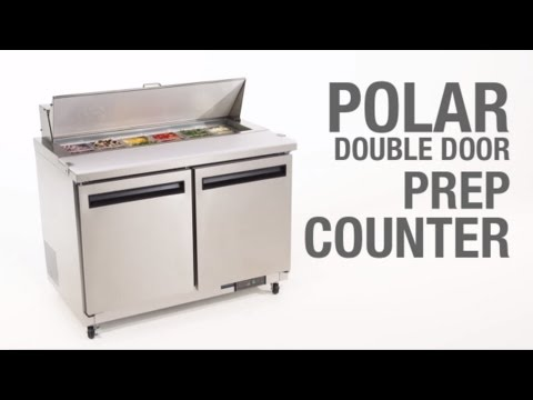 Video Polar RVS saladette - GD882 - 2 deuren