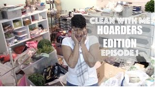 EXTREME DECLUTTER AND PURGE Clean With Me Craft Room Episode 1