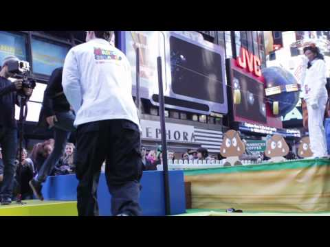 Watch Nintendo Turn Times Square Into Super Mario 3D Land
