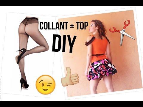 Come rinnovare un VECCHIO TOP con dei COLLANT - Tutorial by Diana Toto