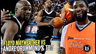 Floyd Mayweather vs Andre Drummond & TO! Floyd HOOPIN