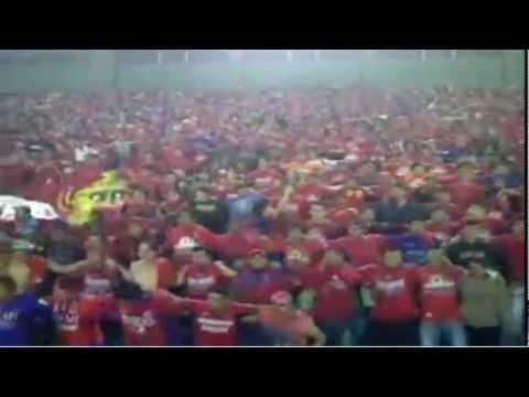 """""""U5C 15 de diciembre 2011 contra los flemas final de ida."""" Barra: La Banda del Rojo • Club: Municipal"""