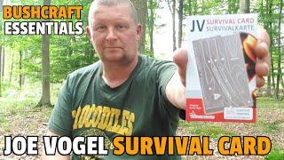 ✔ SURVIVAL CARD von Joe Vogel u. Bushcraft Essentials