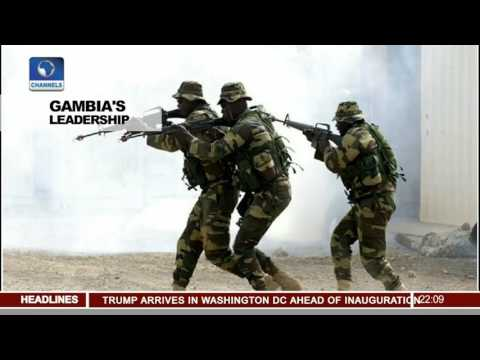 News@10: Adama Barrow Sworn-In As Gambian President 19/01/17 Pt.1