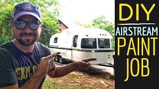 🔥AIRSTREAM PAINT JOB: 1979 Airstream Argosy Renovation