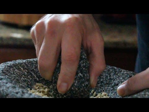 Molcajete How to Clean or Season Mortar and pestles