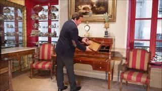 Bureau à Cylindre Dépoque Louis XVI Présenté Par Lantiquaire Philippe Leclercq