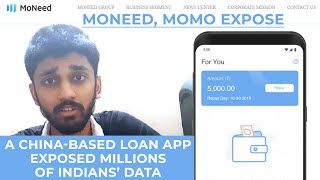 Moneed, MoMo Expose | A China-based loan app exposed millions of Indians' data | ENGLISH | TECHBYTES