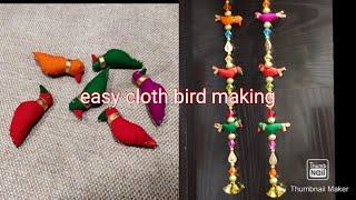With Waste Cloth Bird Making/cloth Bird Making