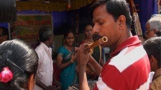 Shops selling musical instruments, Tyagaraja Aradhana
