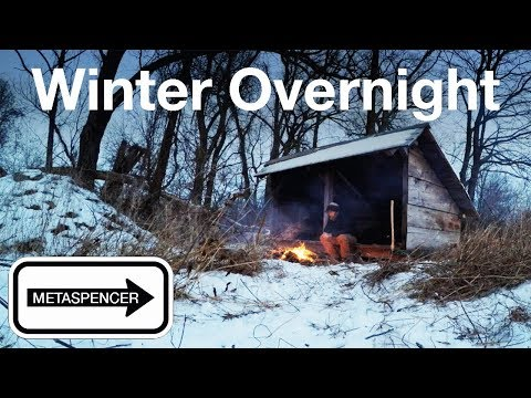 Winter Overnight at the Backwoods Shelter
