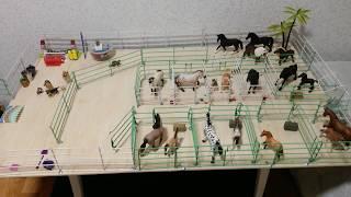 НОВАЯ ДВУХ ЭТАЖНАЯ КОНЮШНЯ для лошадей шляйх;)!!!😍😘😊