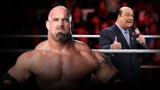 Paul Heyman challenges Goldberg and WWE fans are hyped