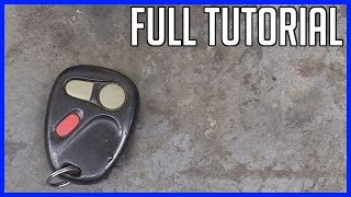 Replace Battery Key GM Chevrolet Key Fob