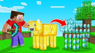 Minecraft BUT ANIMAL DROPS = RANDOM LOOT! (awesome)