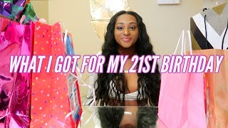 WHAT I GOT FOR MY 21ST BIRTHDAY | HAUL | BIRTHDAY VLOG