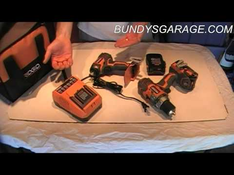 Review Home Depot Ridgid R9601 18 Volt X4 Lithium Ion Cordless Drill Impact Driver – Bundys Garage