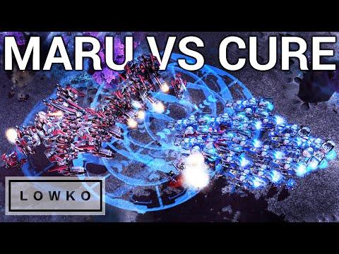 StarCraft 2: MASS THOR VS LIBERATORS! (Maru vs Cure)