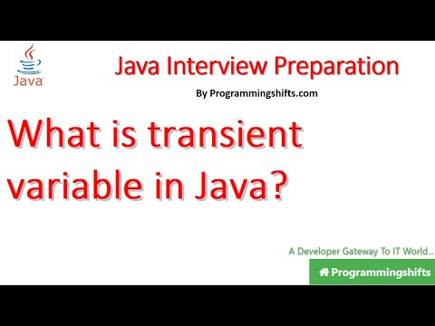 What is transient variable in Java?