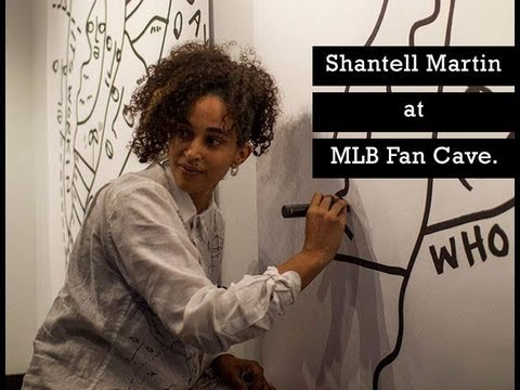 QUIET LUNCH MAGAZINE | The Art of Shantell Martin at MLB Fan Cave.